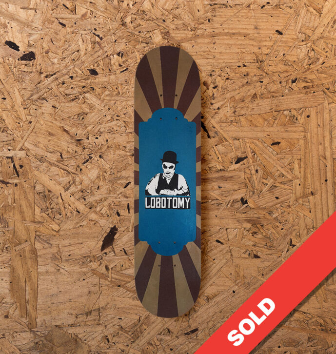 Lobotomy Skateboard Art Deck – Holly Man Brown