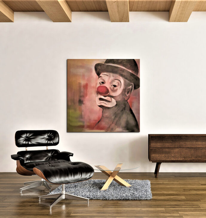 Canvas painting – Clown